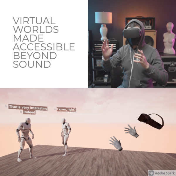 New Media Fellow Virtual Exhibition: Myles de Bastion's Virtual Worlds Made Accessible Beyond Sound