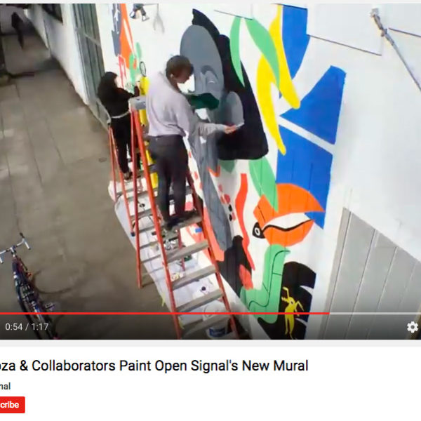 Time-Lapse Video: Molly Mendoza Paints Open Signal's New Mural